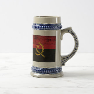 Old Wooden Angola Flag 18 Oz Beer Stein
