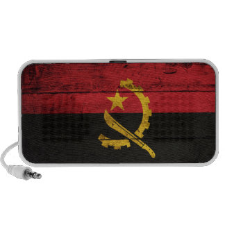 Old Wooden Angola Flag PC Speakers