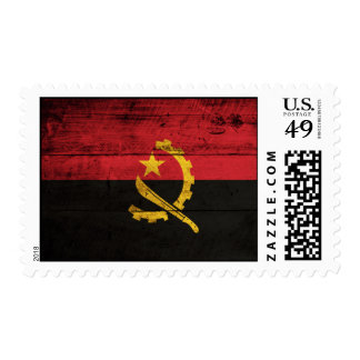 Old Wooden Angola Flag Postage