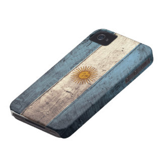 Old Wooden Argentina Flag Case-Mate iPhone 4 Case
