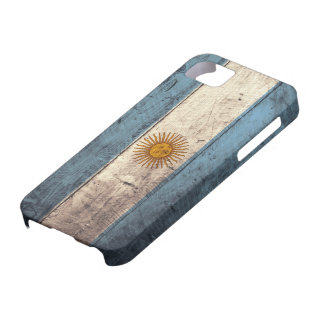 Old Wooden Argentina Flag iPhone SE/5/5s Case