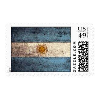 Old Wooden Argentina Flag Postage Stamps