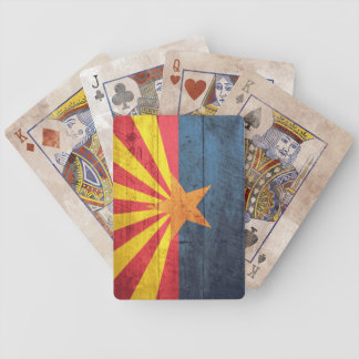 Old Wooden Arizona Flag Playing Cards