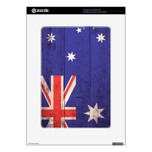 Old Wooden Australia Flag Decals For Kindle DX