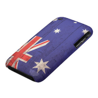 Old Wooden Australia Flag iPhone 3 Case-Mate Case