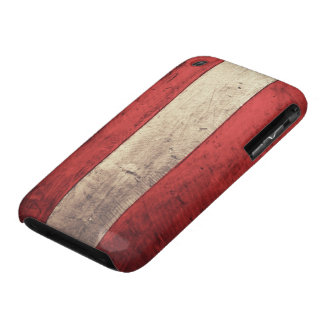 Old Wooden Austria Flag iPhone 3 Case-Mate Case