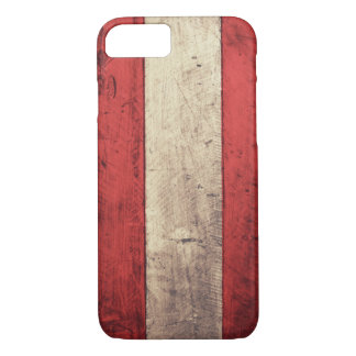 Old Wooden Austria Flag iPhone 7 Case