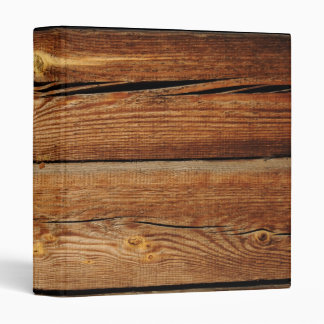 Old Wooden Background 3 Ring Binder