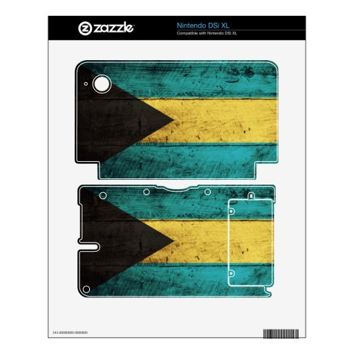 Old Wooden Bahamas Flag; Nintendo DSi XL Decals