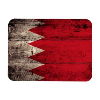 Old Wooden Bahrain Flag Magnet
