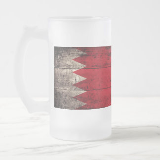 Old Wooden Bahrain Flag; Coffee Mugs