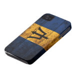 Old Wooden Barbados Flag iPhone 4 Case-Mate Cases