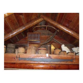 Old Wooden Barrels Postcard