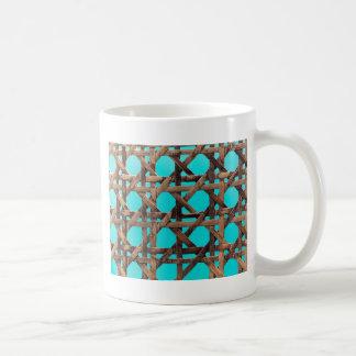 Old wooden basketwork coffee mug