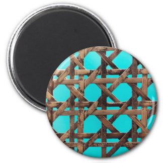 Old wooden basketwork magnet
