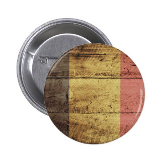 Old Wooden Belgium Flag Button