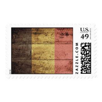 Old Wooden Belgium Flag Postage
