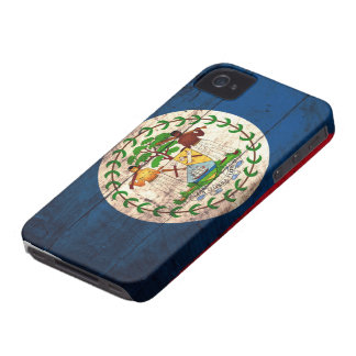 Old Wooden Belize Flag iPhone 4 Cover