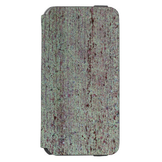 Old wooden board with green mold iPhone 6/6s wallet case