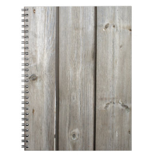 Old wooden boards darkened with age notebook
