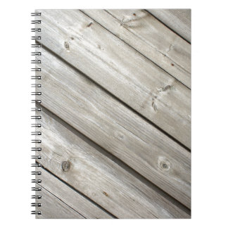 Old wooden boards notebook