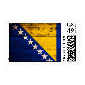 Old Wooden Bosnia Flag Postage