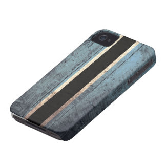 Old Wooden Botswana Flag iPhone 4 Case-Mate Case
