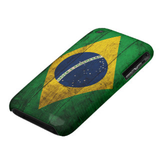Old Wooden Brazil Flag iPhone 3 Case