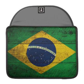 Old Wooden Brazil Flag MacBook Pro Sleeve