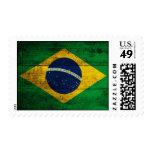 Old Wooden Brazil Flag Stamp