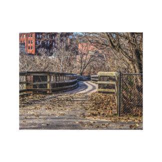 Old Wooden Bridge Canvas Print