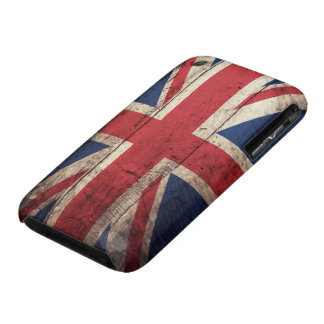 Old Wooden British Flag iPhone 3 Case-Mate Case