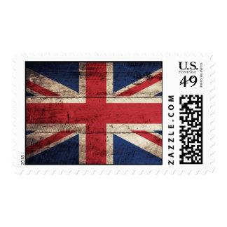 Old Wooden British Flag Stamps
