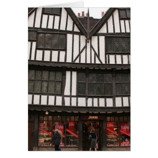 Old Wooden Building In York Card