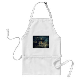 Old Wooden Building Wild West Ghost Town Adult Apron