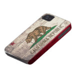 Old Wooden California Flag Case-Mate iPhone 4 Cases
