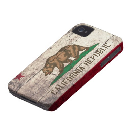 Old Wooden California Flag iPhone 4 Case