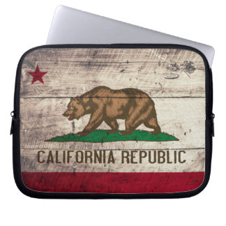 Old Wooden California Flag Laptop Computer Sleeve