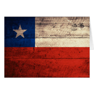 Old Wooden Chile Flag Card