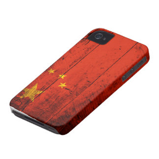 Old Wooden China Flag Case-Mate iPhone 4 Case