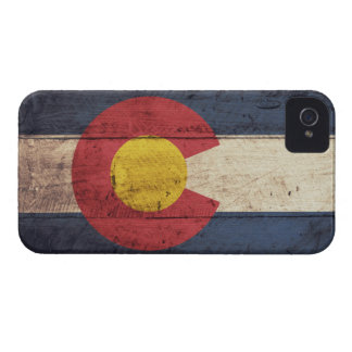 Old Wooden Colorado Flag iPhone 4 Case-Mate Case