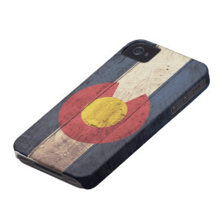 Old Wooden Colorado Flag iPhone 4 Case-Mate Cases