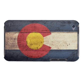 Old Wooden Colorado Flag iPod Touch Cases
