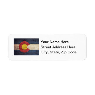 Old Wooden Colorado Flag Label