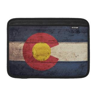 Old Wooden Colorado Flag MacBook Air Sleeves