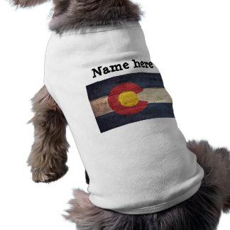Old Wooden Colorado Flag Pet Shirt