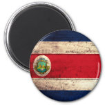 Old Wooden Costa Rican Flag Refrigerator Magnet