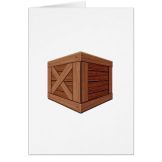 Old Wooden Crate Card