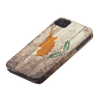 Old Wooden Cyprus Flag Case-Mate iPhone 4 Cases