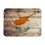 Old Wooden Cyprus Flag Flexible Magnet